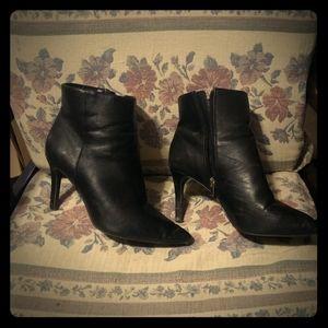 Black stiletto ankle boot
